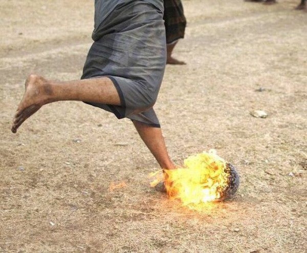 1320 Flaming Soccer in Indonesia