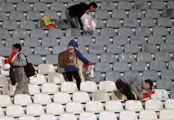 تماشاگران کره در آزادی