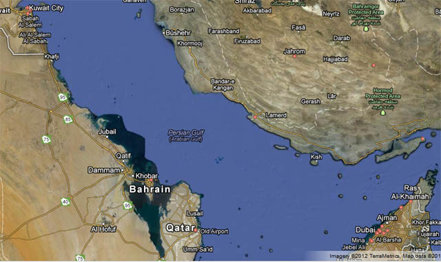 خلیج فارس,نقشه گوگل,گوگل مپ