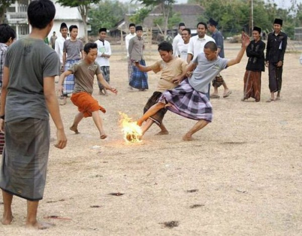 340 Flaming Soccer in Indonesia
