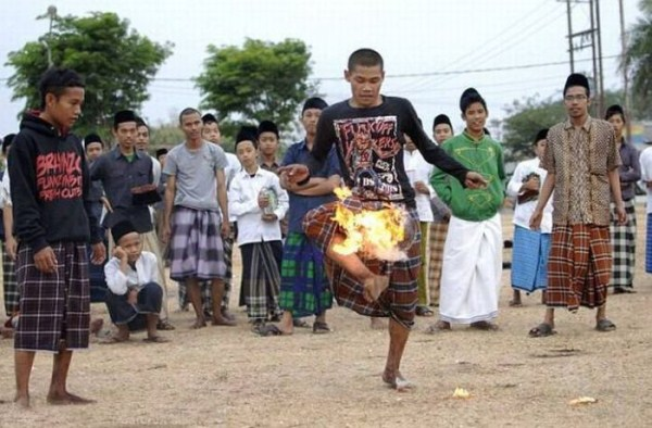 426 Flaming Soccer in Indonesia