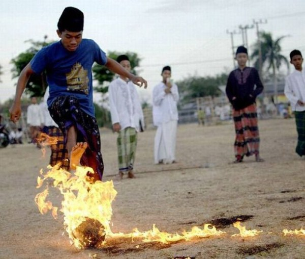 724 Flaming Soccer in Indonesia