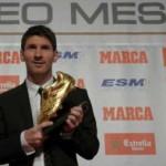 مسی برنده کفش طلای فوتبال اروپا