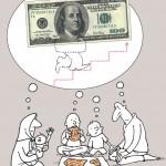 کاریکاتوری تلخ از گرانی دلار