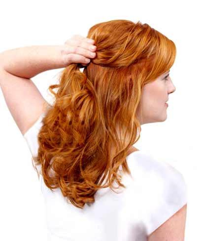 رنگ مو لمه آموزش تصویری جمع کردن ساده و زیبای مو