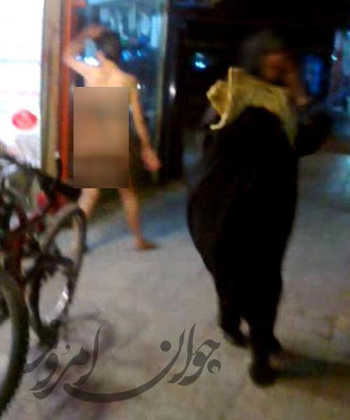 حوادث ی جدید قدم زدن زن برهنه در خیابان های اصفهان