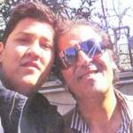 عکسی از ابوالفضل پور عرب و پسرش پوریا