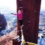 دختر جوان رکورد بندبازی دنیا را زد +عکس