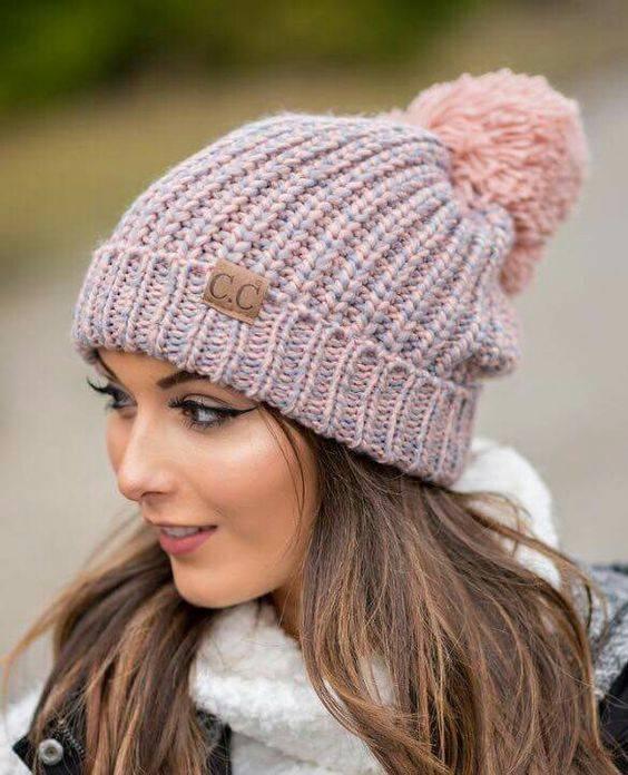 کلاه زمستانی دخترانه بافت