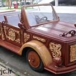خودرویی جالب که کاملا از چوب ساخته شده +عکس