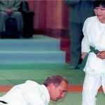 دختر 10 ساله رئیس جمهور روسیه را به زمین کوبید +عکس