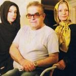 عکسی از حمید لولایی در کنار همسر و دخترش