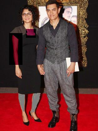 امیر خان و همسرش