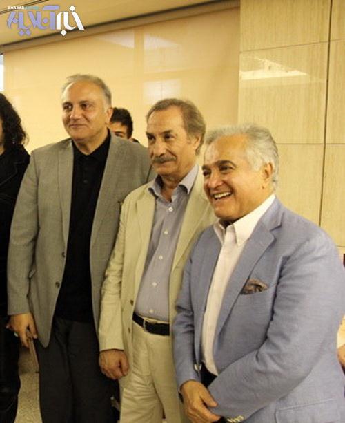 انوشیروان روحانی (آهنگساز پیشکسوت) در کناز سیاوش تهمورث (بازیگر) و علی معلم (تهیه کننده و منتقد