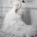 مدل لباس عروس با حجاب 2013