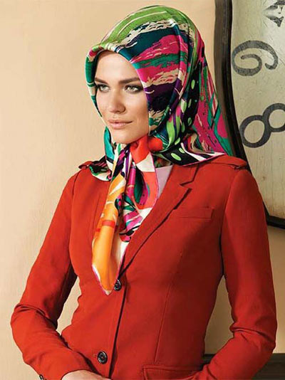 مدل روسری مارکدار