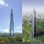 ساخت بلندترین ساختمان دنیا در 90 روز +عکس