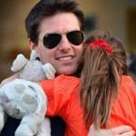 تام کروز برای دخترش گریه می کند +عکس