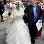 به این میگن عجیب ترین عروس دنیا +تصاویر