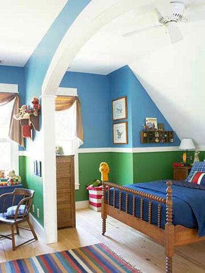 یک چیدمان زیبا برای اتاق پسر با نکاتی خاص برای دکوراسیون اتاق