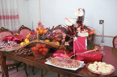 عکس هایی از تزئینات کادوی شب یلدای تازه عروس ها