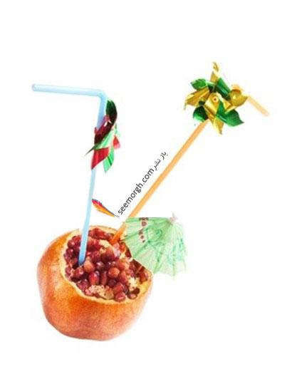مدل های تزیین میوه و انار برای شب یلدا
