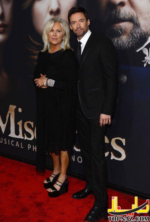 هیو جکمن و همسرش