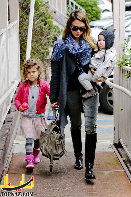 جسیکا آلبا و دخترانش