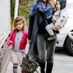 جسیکا آلبا و دو دخترش بورلی هیلز