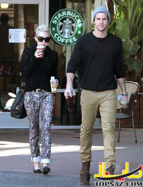 مایلی سایرس  و نامزدش