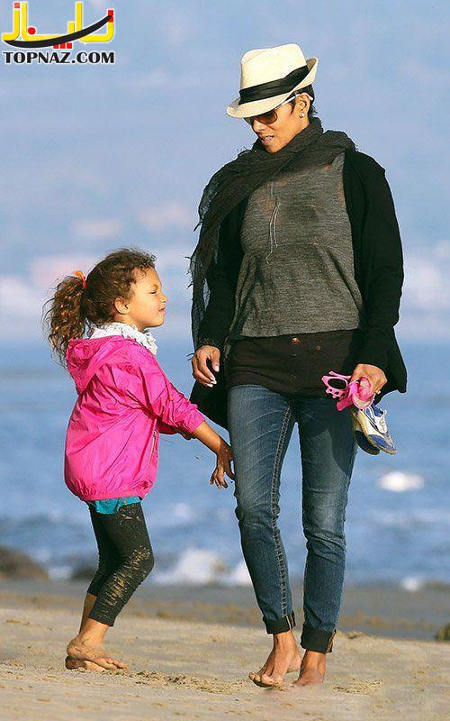هالی بری و دخترش