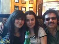 عکس معین به همراه همسر و دخترش