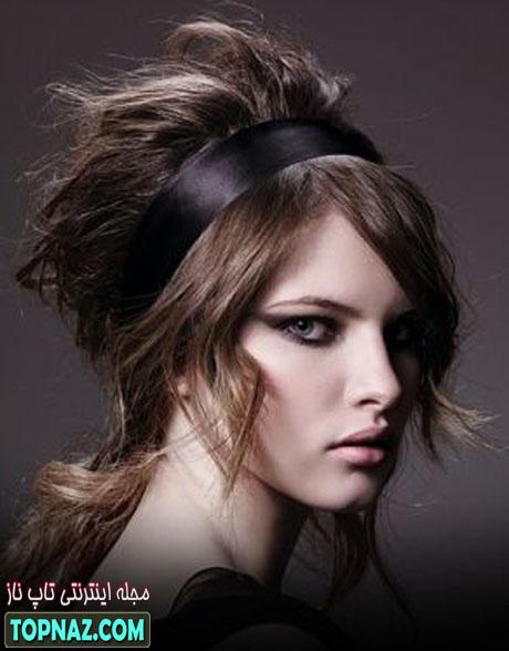 روش بستن موهای بلند