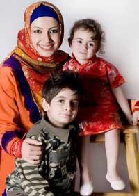 عکس خاله شادونه و فرزندانش