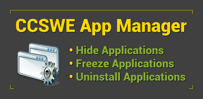 مخفی سازی آیکون ها CCSWE App Manager Pro v1.1.1