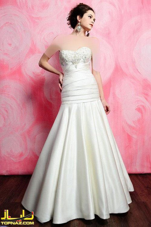 لباس عروس دختران خوش فرم