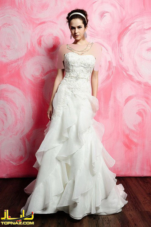 مدل جدید لباس عروس اروپایی