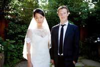 مدیرعامل فیسبوک و همسرش+عکس