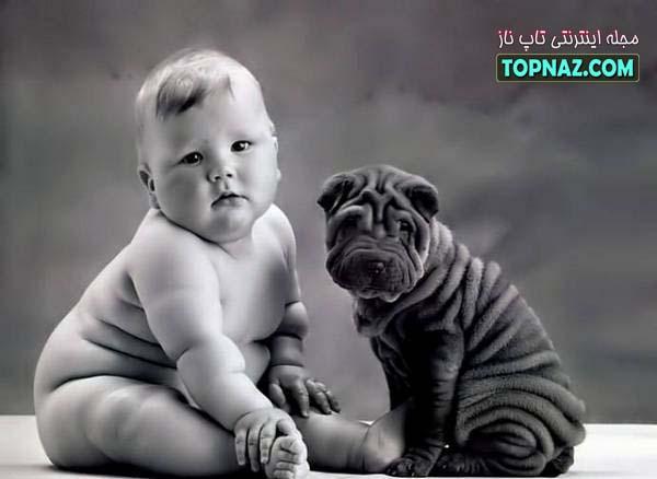 سگ و بچه