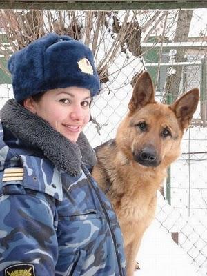 پلیس زن روسی