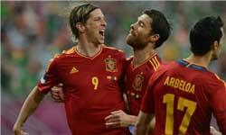 اسپانیا با 4 گل ایرلند را مغلوب کرد