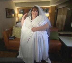 چاق ترین زن چهان عروس می شود!