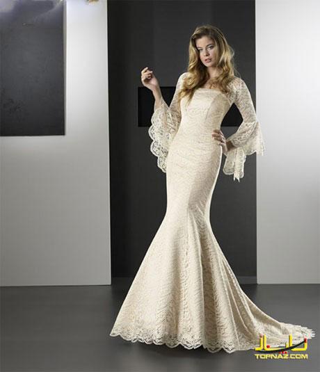 لباس عروس بلند دختران اروپایی