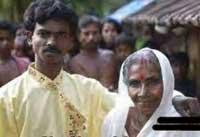 پسری هندی با مادربزرگ پیرش ازدواج کرد!!+عکس