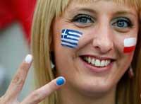 عکس تماشاگران زن پر احساس در یورو 2012