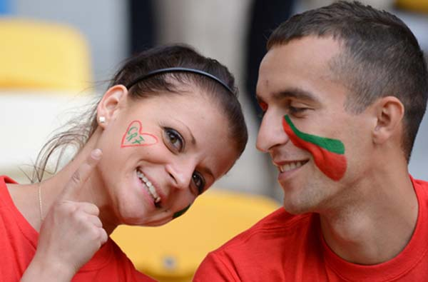 تماشاگران زن پرتغالی