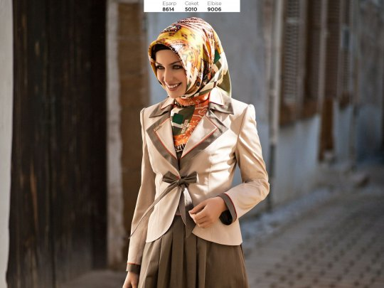مدل روسری خوشرنگ مجلسی