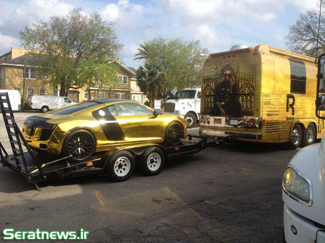 ماشین با روکش طلا