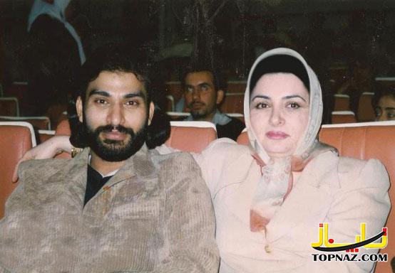 ناصر عبدالهی و همسرش