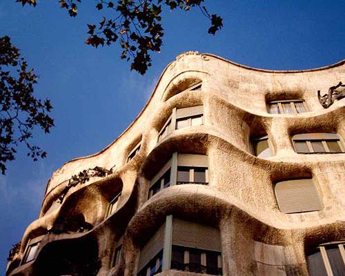 قصر میلا در بارسلونا در اسپانیا